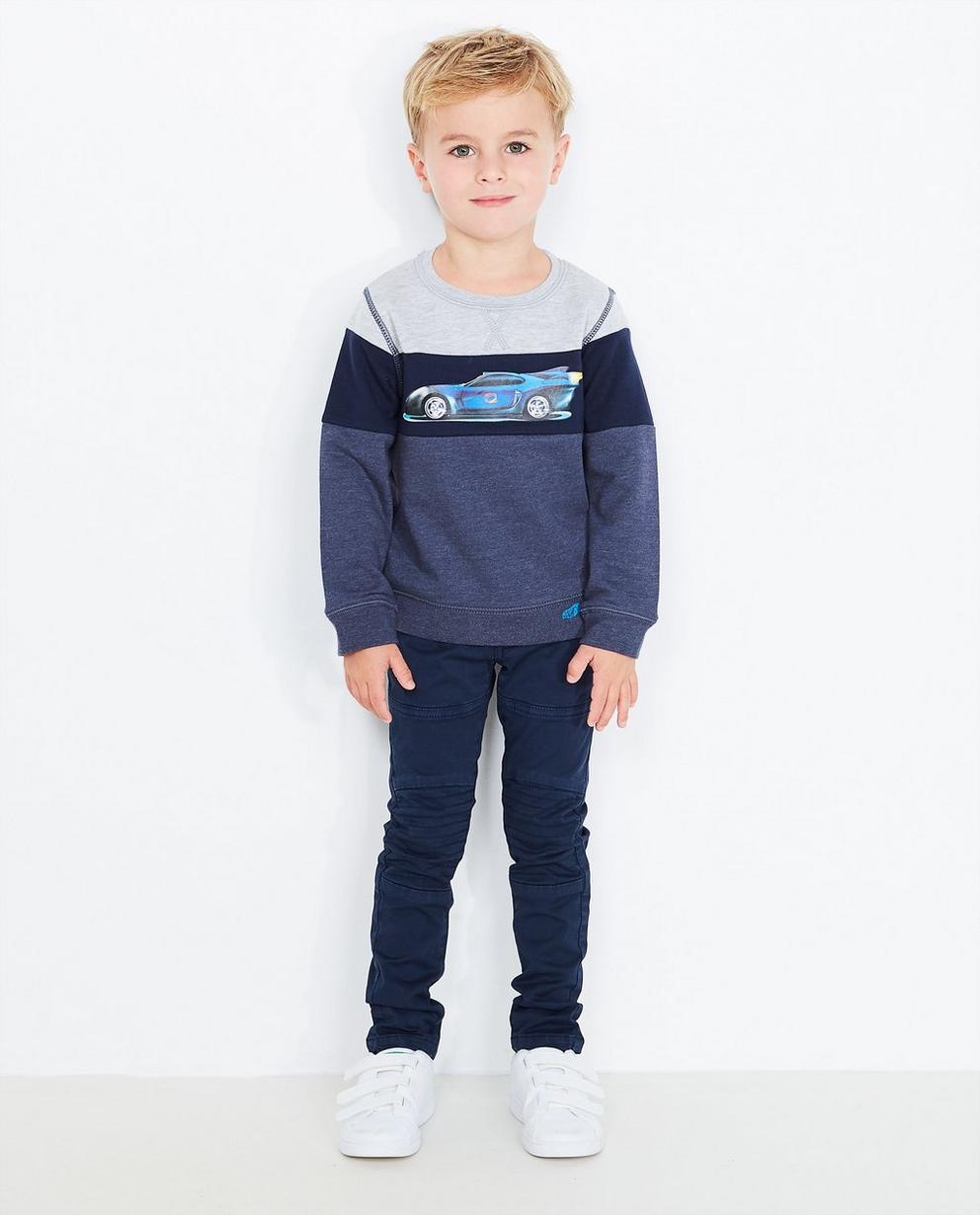 Colour-Block-Sweater - mit Print, Rox - Rox